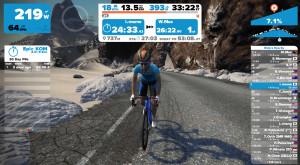 2016年10月2日Zwiftワトピア山岳コース
